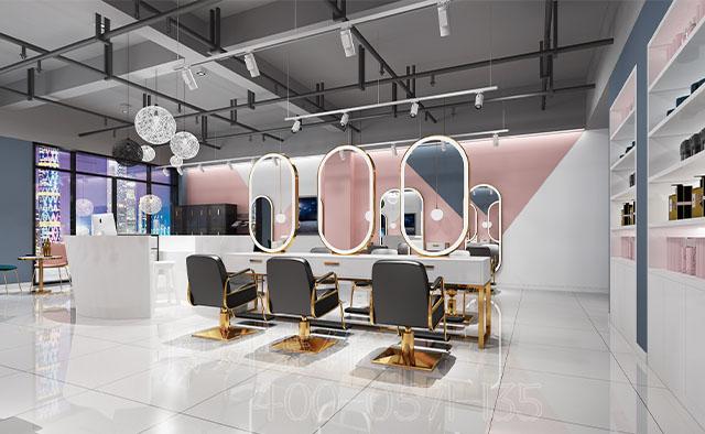 杭州时尚理发店排列三走势设计_案例效果图