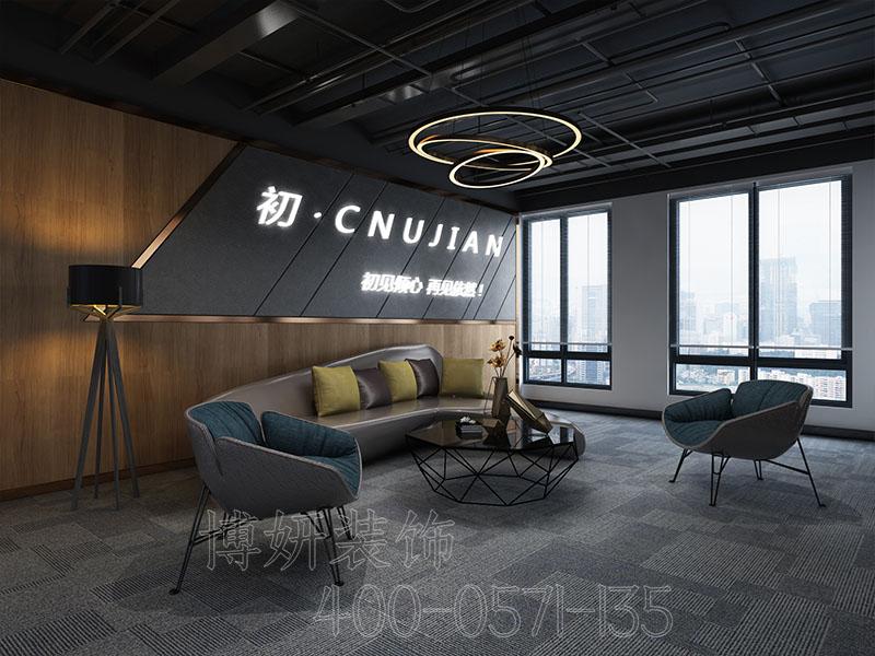 杭州科幻科技风格办公室装修样式-效果图
