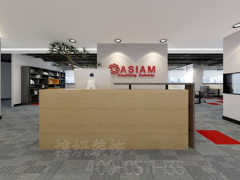 杭州贸易办公室排列三走势案例设计-效果图