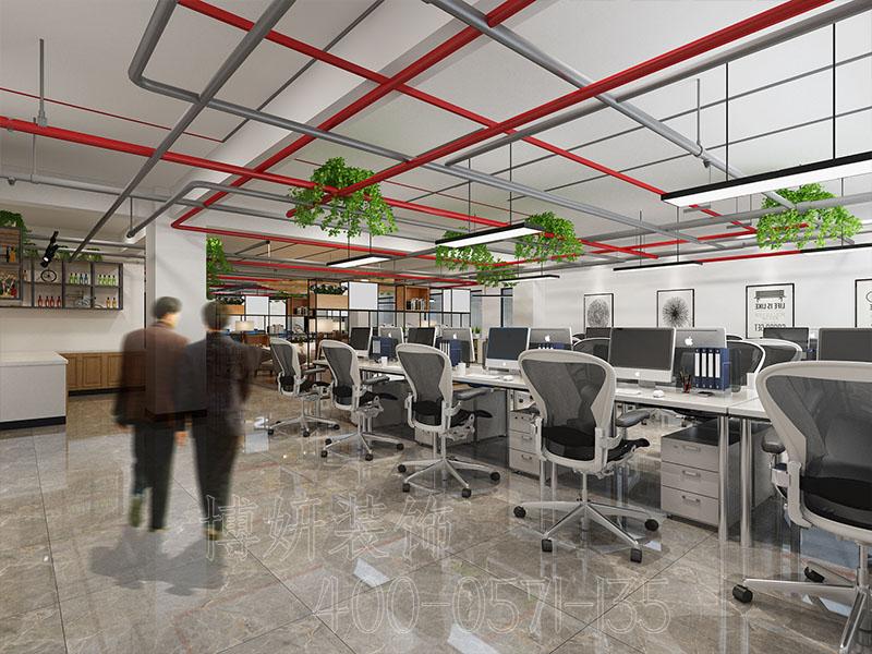 杭州科技风格办公室装修案例-效果图