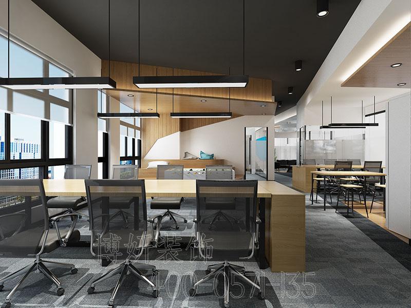 杭州新中式风格办公室装修案例-效果图