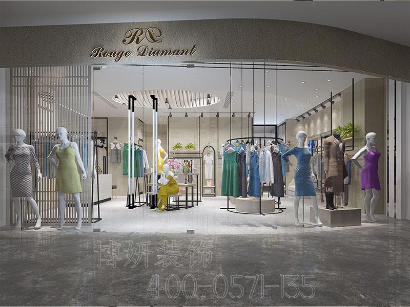 杭州女装店装修设计-装修效果图