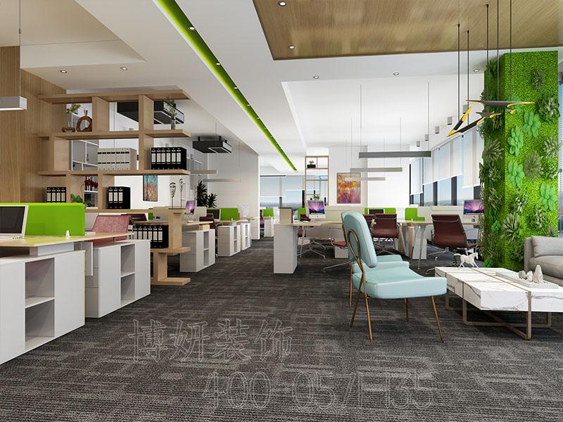 杭州清新风格办公室装修案例-效果图