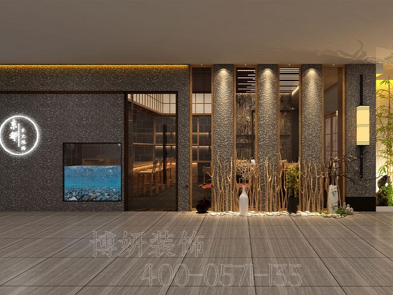 杭州日式餐厅装修设计案例效果图