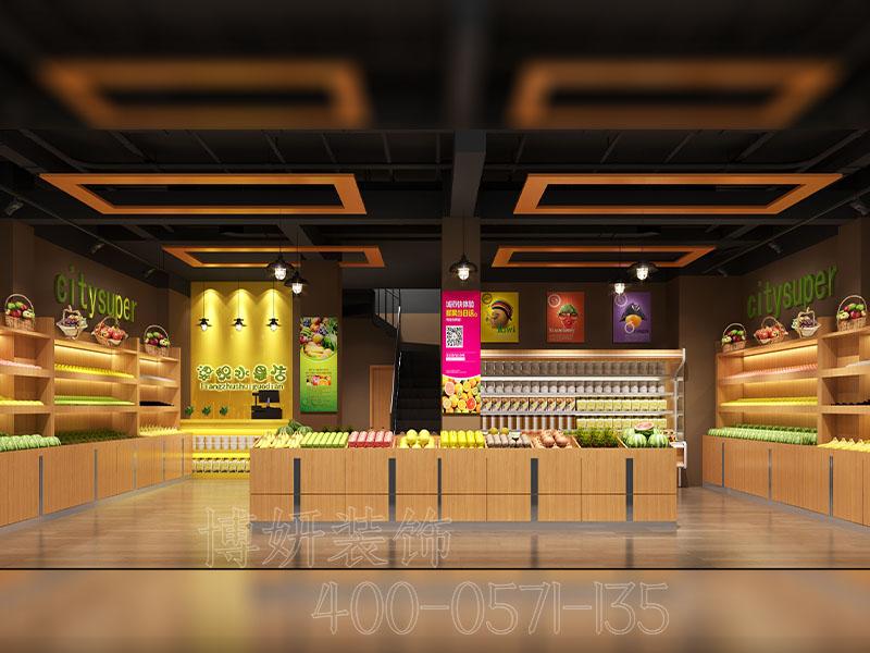 杭州水果店面装修设计 - 装修效果图
