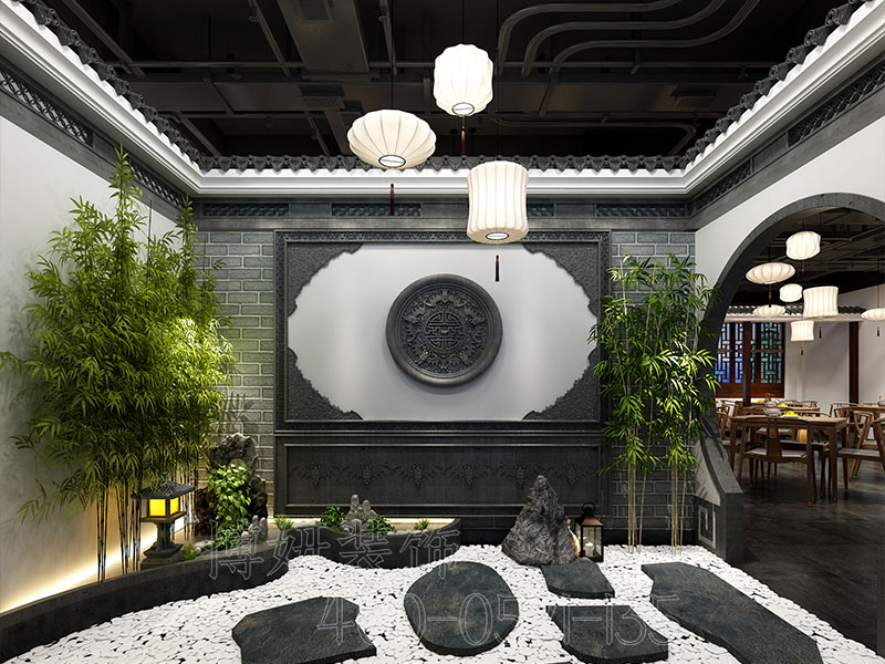 杭州中式餐厅装修设计案例效果图
