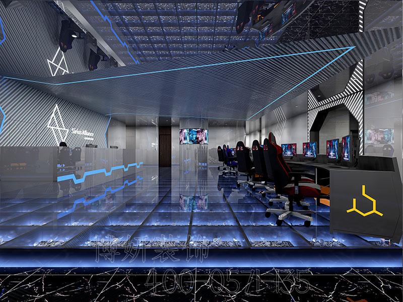 杭州电竞酒店装饰设计案例-效果图