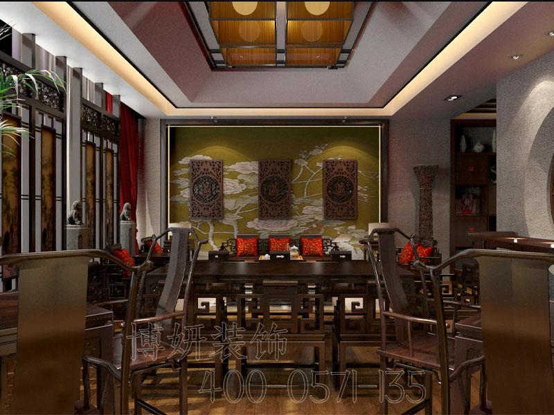 杭州中式茶馆装修设计 - 装修效果图