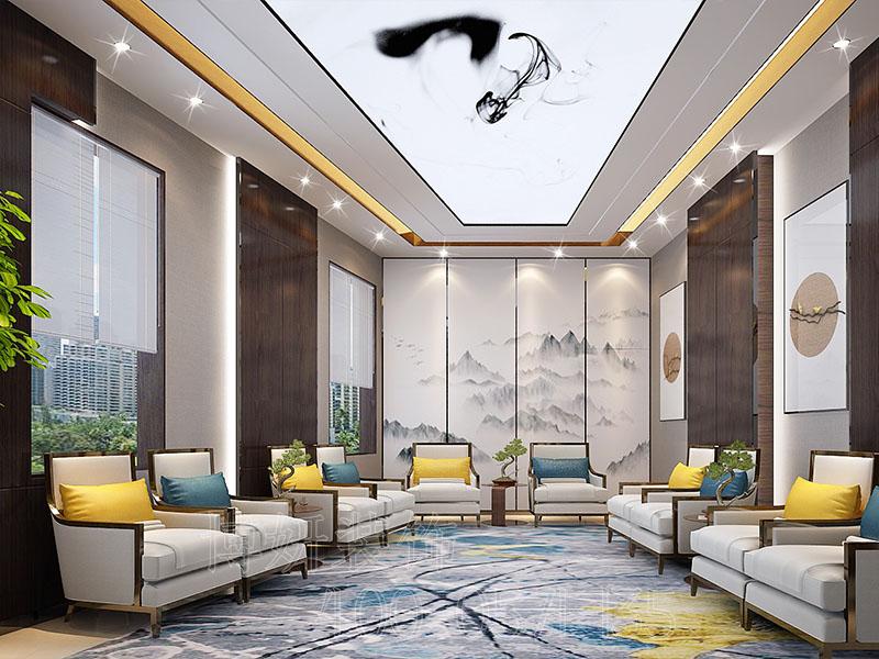 杭州新中式风格办公室装修设计-案例效果图