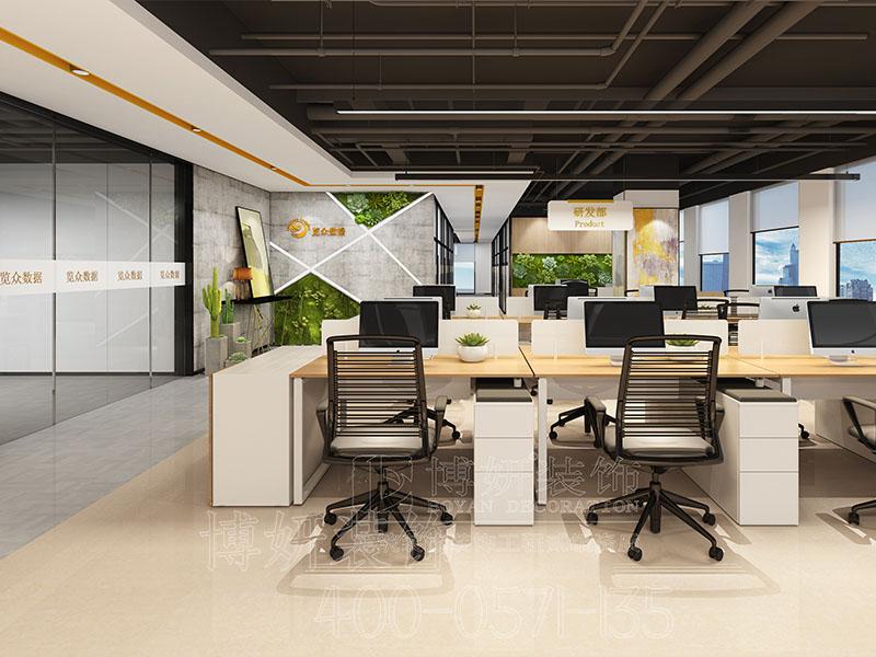 杭州自然清新风格办公室装修设计-案例效果图