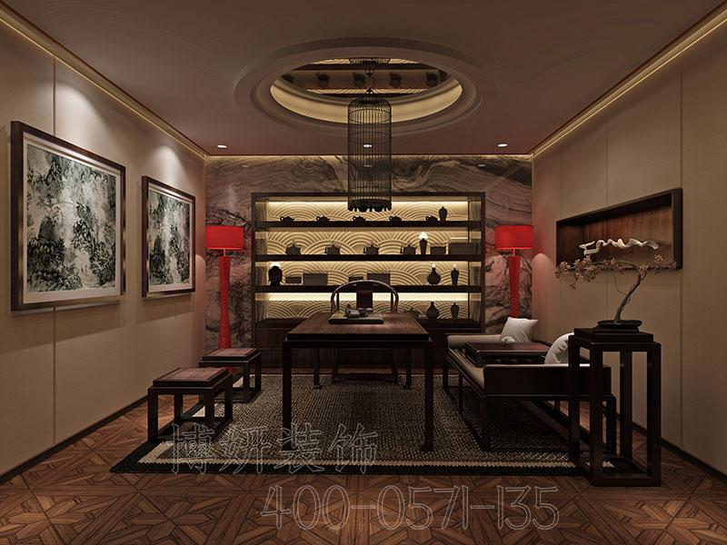 杭州中式茶会所装修设计 - 装修效果图