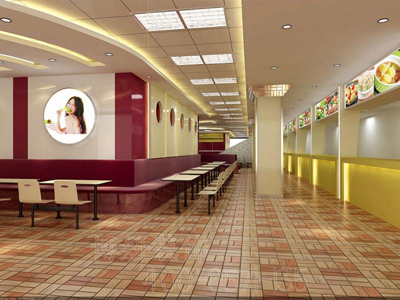杭州快餐厅装修设计-案例效果图