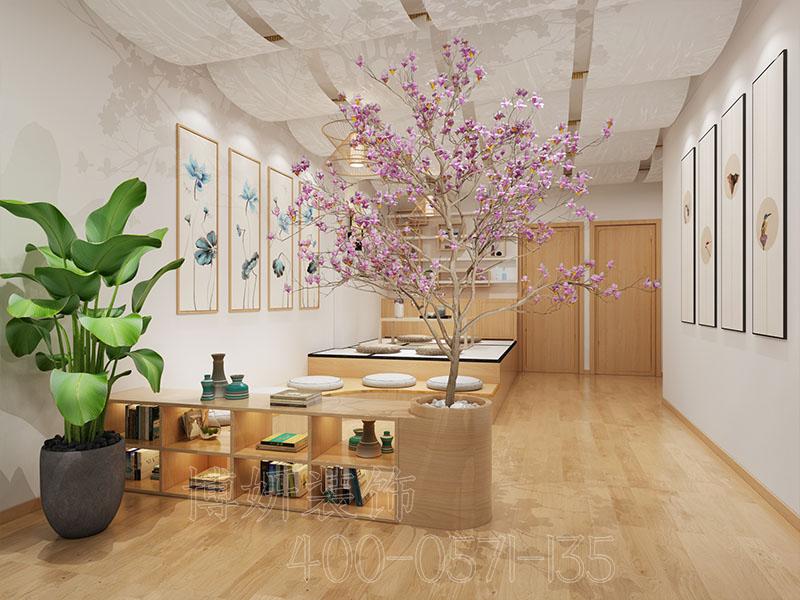 杭州日式美容店排列三走势设计-日式美容店案例效果图
