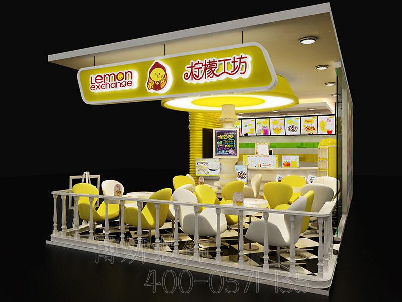 杭州时尚奶茶店排列三走势设计-案例效果图