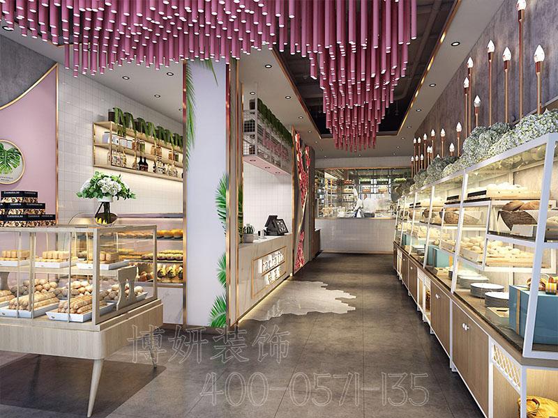 杭州网红面包店装修设计-案例效果图