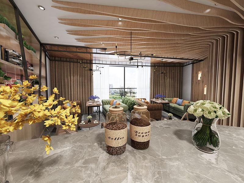 杭州清新风格办公室装修设计案例-效果图