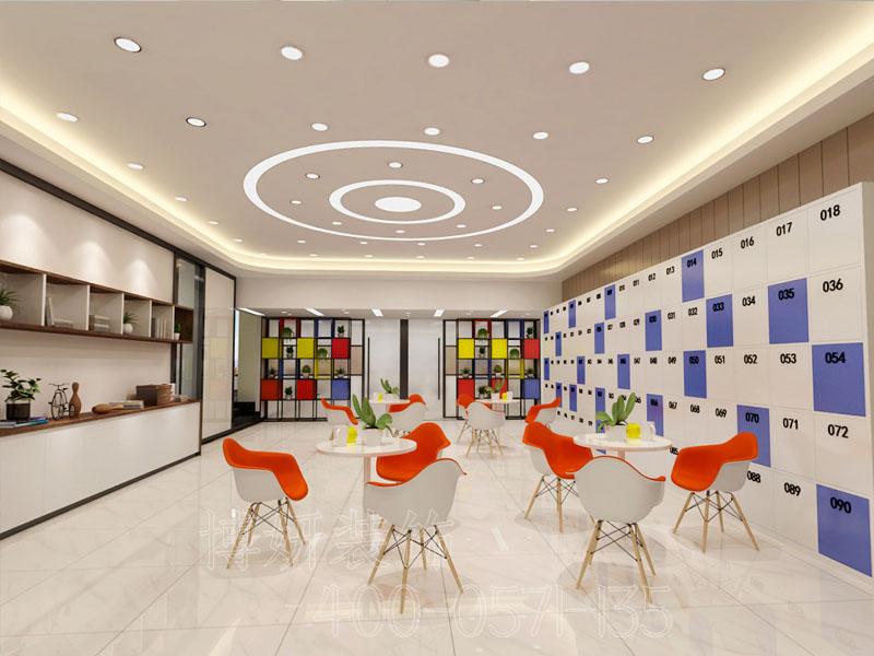 杭州杭州多人办公室装修-案例效果图