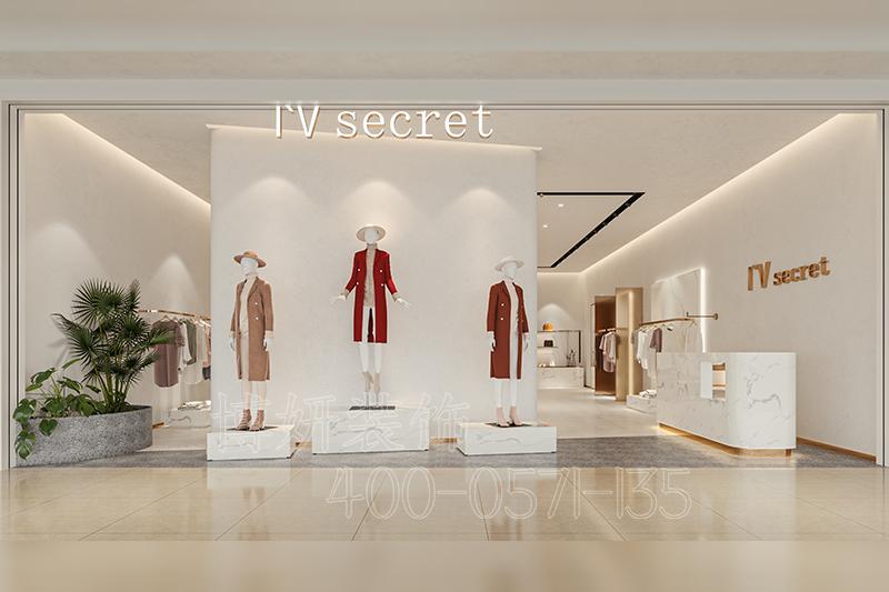 杭州时尚女装店装修设计-案例效果图