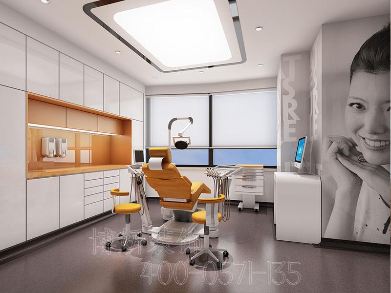 杭州牙科诊所装修,口腔诊所装修效果图案例,杭州诊所装修