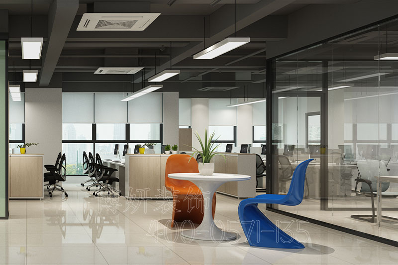 家电公司办公室排列三走势风格,公司办公室排列三走势设计案例效果图,办公室排列三走势