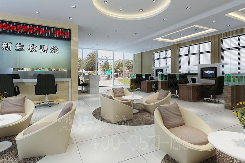 学校办公室装修案例,学校办公室装修设计实景图,杭州办公室装修