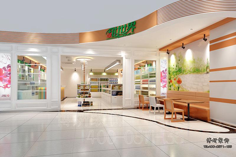 进口食品店装修设计,零食店案例效果图