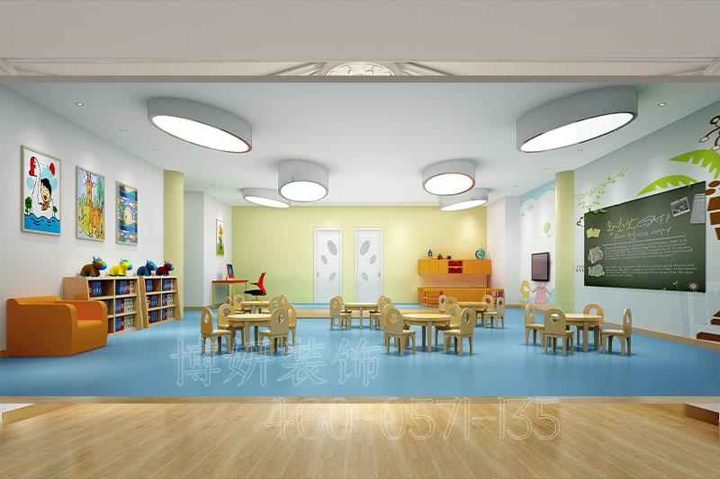 幼儿教育培训机构装修,双语教育培训机构装修实景图片,杭州教育装修