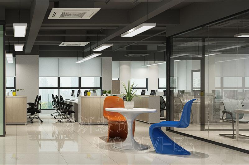 宁德家电公司办公室装修风格-公司办公室装修设计案例效果图