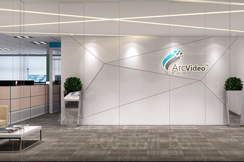 杭州科技公司办公室装修设计-办公室装修案例效果图