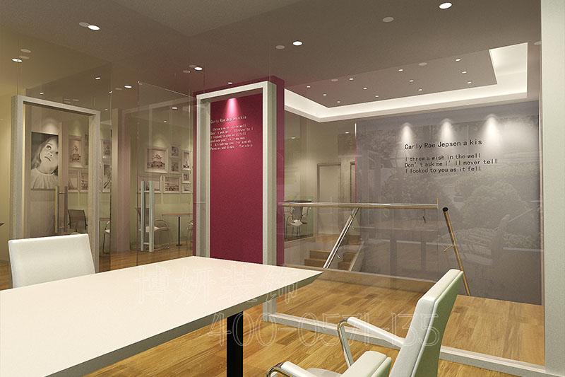 山东外语办公室装修案例-办公室装修设计效果图