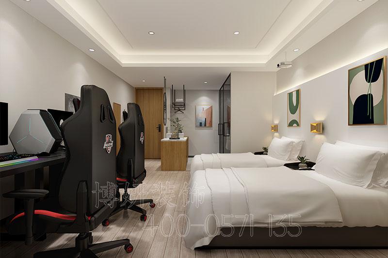 电竞酒店装修设计案例,电竞酒店装修实景效果图片,杭州酒店装修