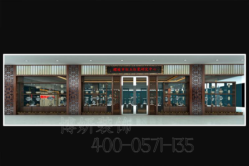 瓷器展厅装修设计,瓷器展厅装饰案例效果图,展厅装修设计