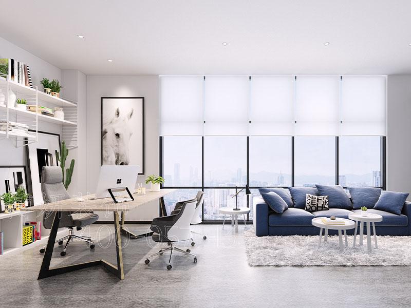 杭州证券办公室装修,证券公司办公室装饰案例实景图片,办公室装修