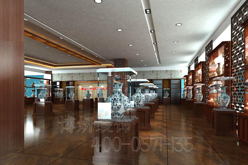 临平瓷器展厅装修设计-瓷器展厅装饰案例效果图
