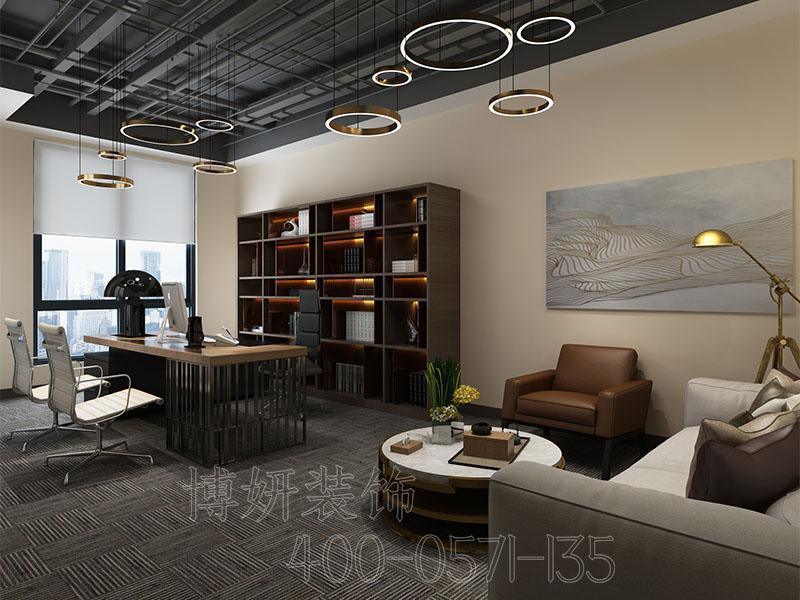 杭州办公室装修实景图-办公室装修案例效果图