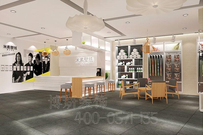杭州壁纸展厅装修设计-壁纸展厅装饰案例实景图