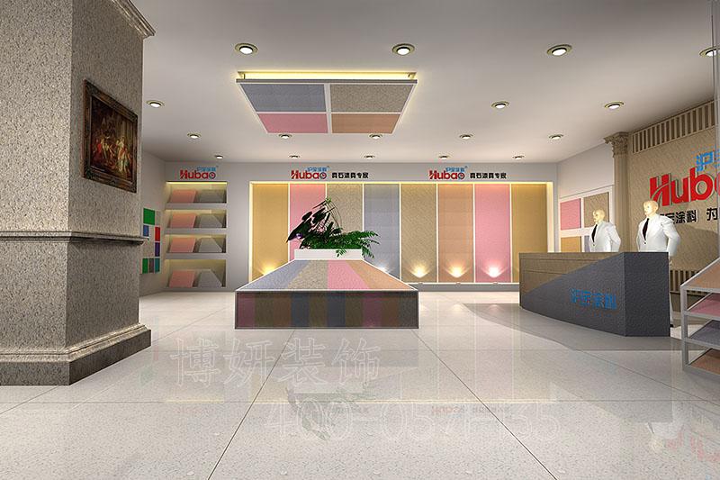 临平涂料展厅装修案例-涂料展厅装饰效果实景图