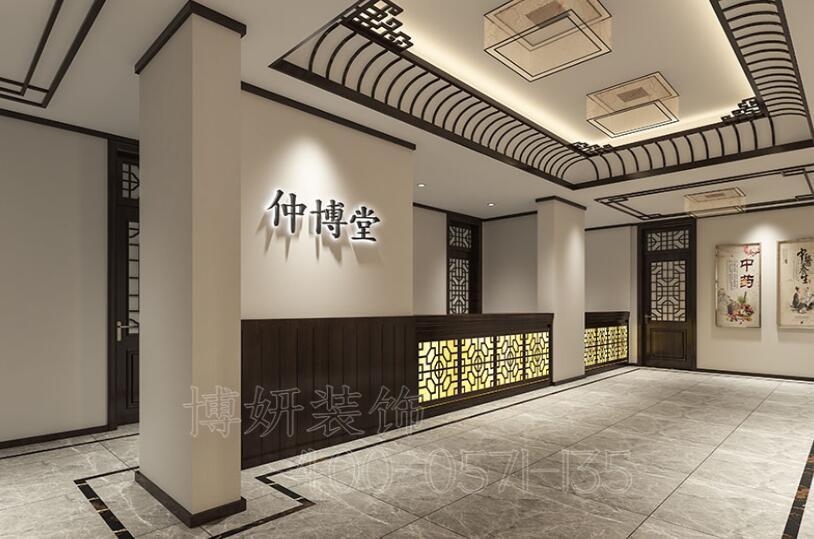 杭州西湖区中医馆装修,专业中医馆设计效果图,杭州正规装修设计公司