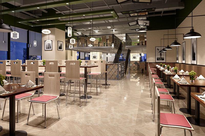 湖州时尚餐厅装修设计-案例效果图
