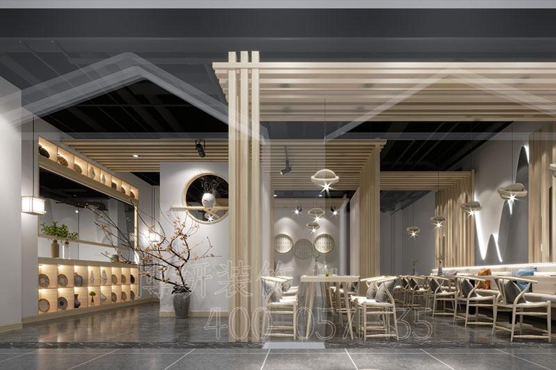杭州简约茶餐厅排列三走势设计-案例效果图