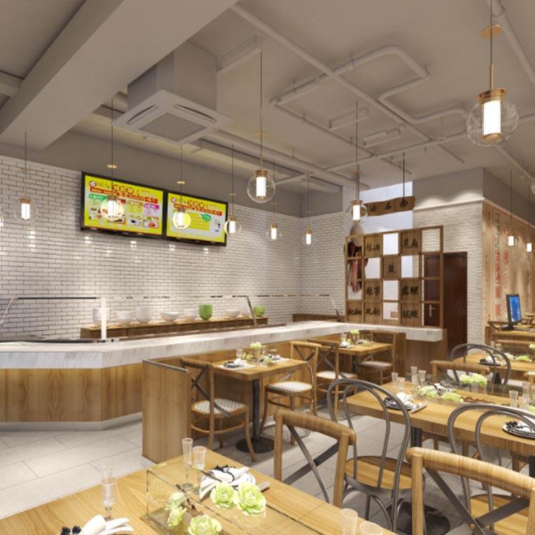 杭州快餐店装修设计,杭州专业快餐店设计效果图