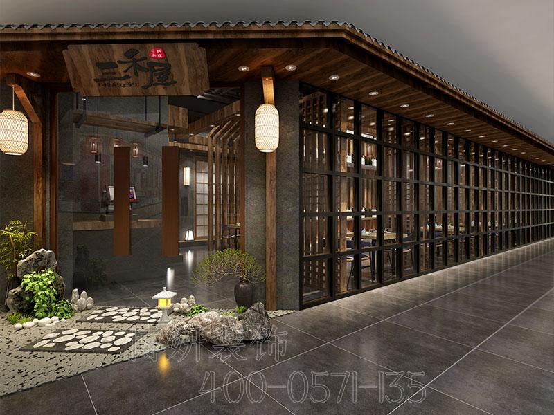 杭州日式料理店装修效果图欣赏,日料店装修注意事项