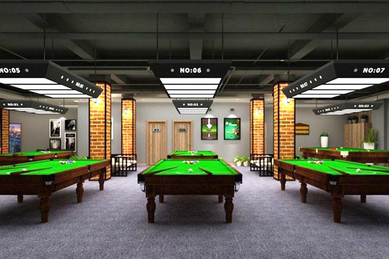 山东桌球室装修设计 - 装修效果图