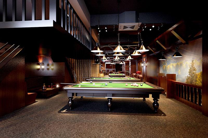 杭州台球室装修,杭州桌球室装修,杭州装修公司