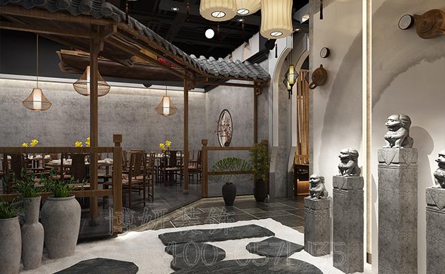 杭州火锅店装修设计,火锅店设计实景图册,火锅店装修