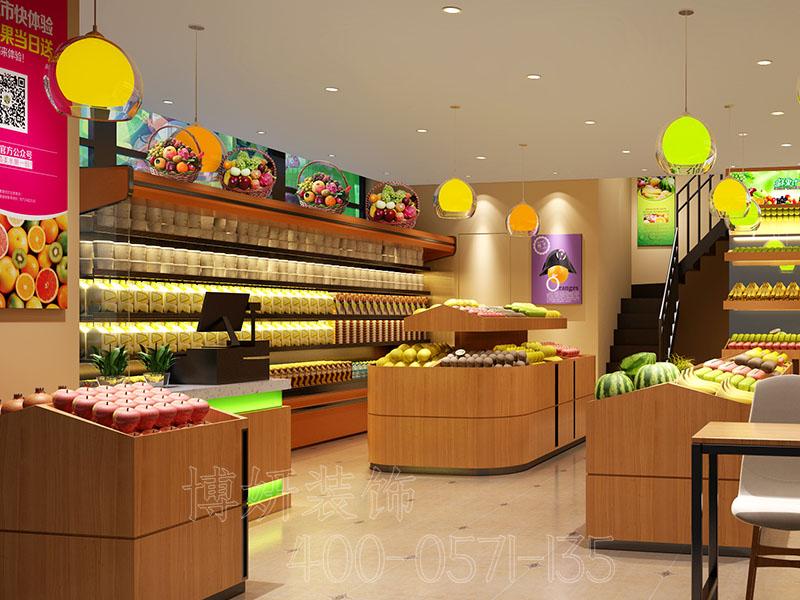 杭州专业水果店排列三走势设计,小型水果店设计效果图,新新鲜鲜