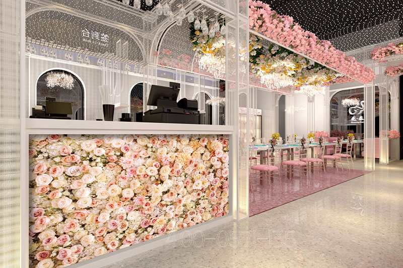 山东主题餐厅装修设计-美如画的餐厅装修效果案例图