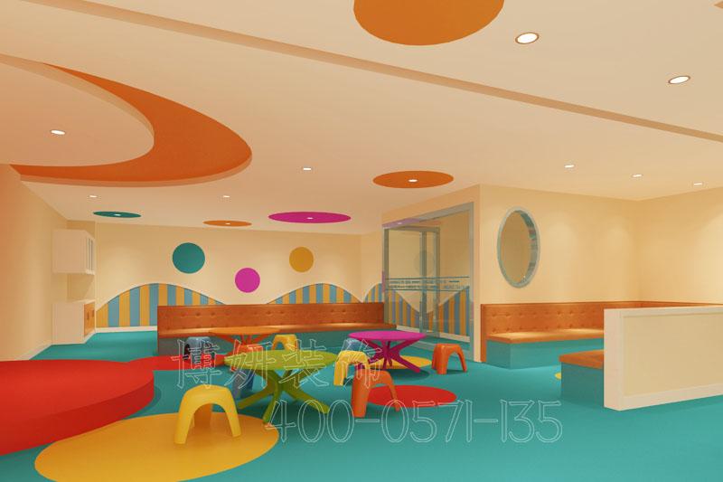 杭州专业幼儿园装修,精品幼儿园装修实景图,幼儿园装修