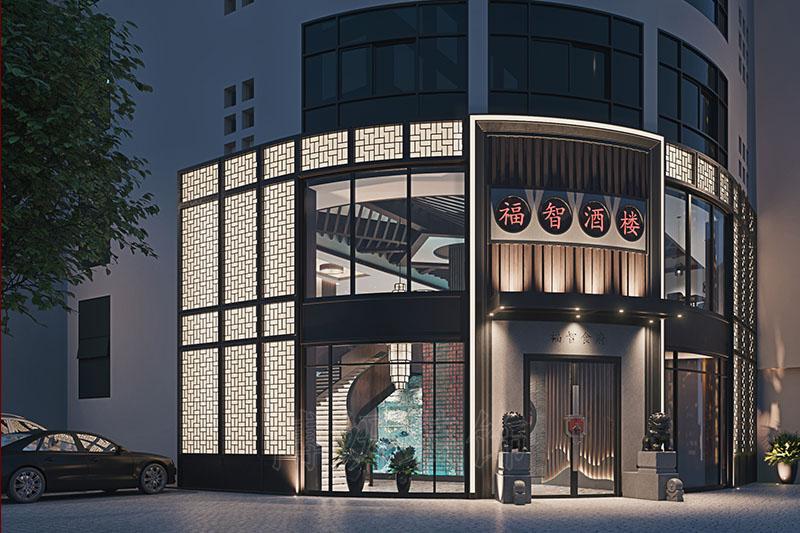 福智酒楼装修设计,杭州专业酒楼装饰效果,杭州餐饮装修设计公司