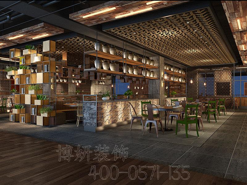 杭州专业餐饮空间装修效果,餐饮装修设计公司,博妍空间的艺术者
